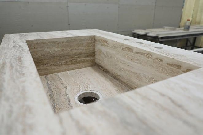 travertine+sink