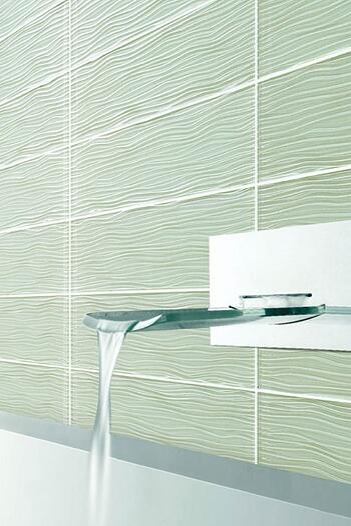 waves ocean spray glass tile